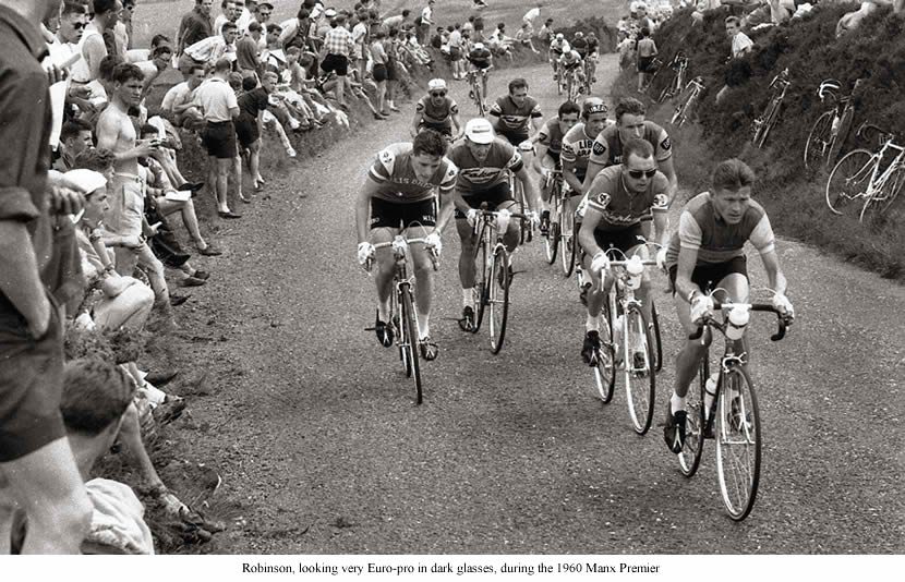 Image of 1960 Manx Premier RR Brian Robinson St Raphael 2nd in line.
