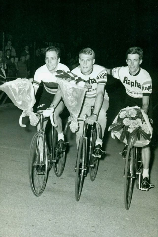 From left to right; Roger Rivière, Rudi Altig and Tom Simpson.