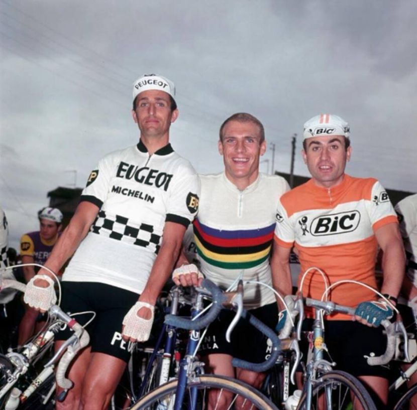 Altig in his rainbow jersey with Tom Simpson