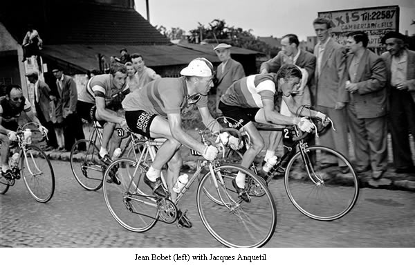 Image of Jean Bobet with Jacques Anquetil