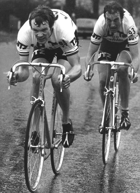 Griffiths (right) racing for GS Strada